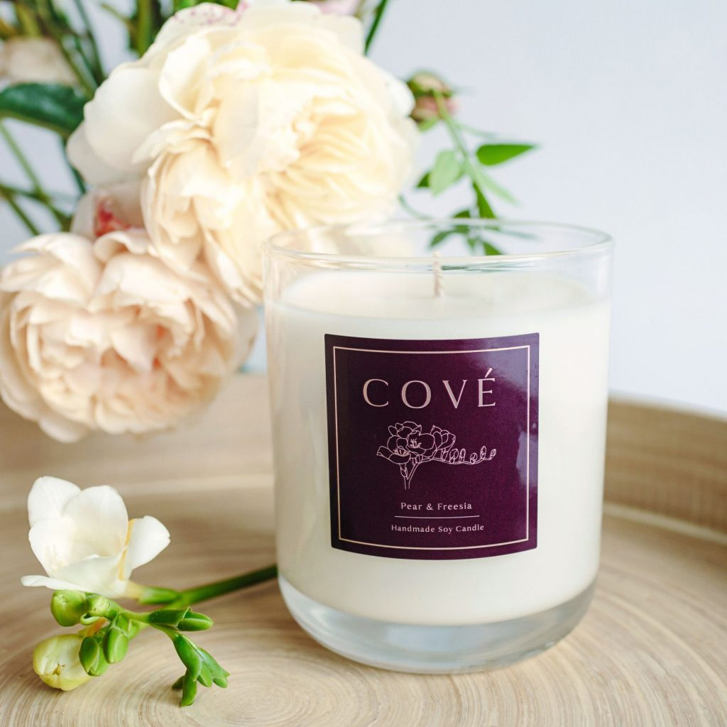 Cové Candles Pear and Freesia Candle
